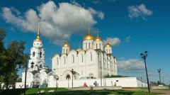Uspensky cathedral, Vladimir, Timelapse Stock Footage