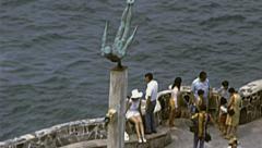 Acapulco 1973: la Quedrada diving cliff Stock Footage