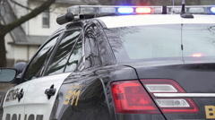 Police Car Near a Crime Scene (3 of 5) - stock footage