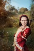Beautiful Medieval Princess Smiling Stock Photos