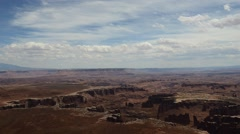 Stock Video Footage of Canyonlands National Park Clouds/Sun 1080p