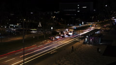Time lapse downtown Wiesbaden Stock Footage