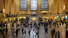 Grand Central Station - New York City - Timelapse Stock Footage