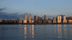 New York City: Uptown, Hudson River - stock footage