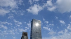 New York City: Buildings Clouds Day: Trump World Tower Stock Footage