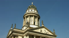German Cathedral on Gendarmenmarkt Berlin Stock Footage