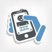 Video touchscreen icon - stock illustration