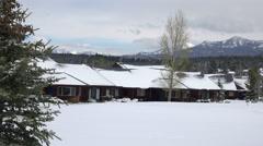 Rocky Mountain Pagosa Springs Snow at resort 4K 229 Stock Footage