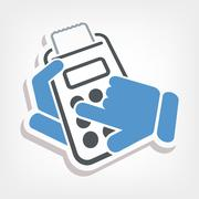 Calculator icon - stock illustration