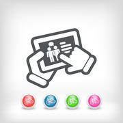 Chat touchscreen icon - stock illustration