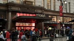 Macy's During Christmas. Black Friday NYC. Macys during the Holidays. Stock Footage
