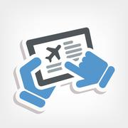Airline website Stock Illustration