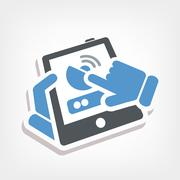 Antenna smartphone or tablet icon Stock Illustration