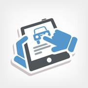 Automotive web icon Stock Illustration