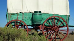 Covered Wagon On The Prairie, 4K Stock Footage