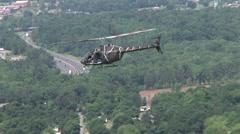 Kiowa OH-58 flies Stock Footage