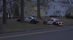 Police Cars at a Domestic Disturbance (1 of 3) Stock Footage