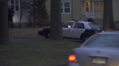 Police Cars at a Domestic Disturbance (2 of 3) Stock Footage