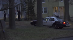 Police Cars at a Domestic Disturbance (3 of 3) Stock Footage