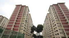 Flats in Singapore Stock Footage