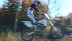 Extreme slow motion motocross jump Stock Footage