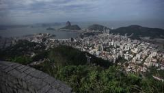 Rio de Janeiro: Tilt Shot Reviews Sugarloaf Overview Scenic Stock Footage