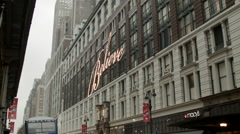 Macy's Store in New York City Stock Footage