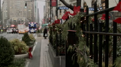 Christmas in Manhattan. New York City during the Holidays. - stock footage