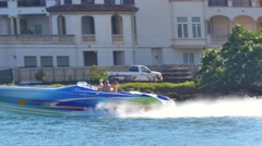Speed boat in Miami 4k - stock footage