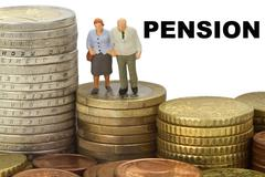 Pension - stock photo