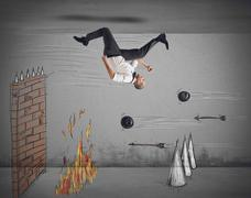 Obstacles to work Stock Illustration