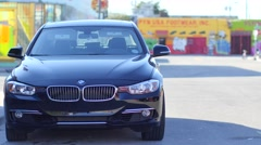 Bmw 5 series on the streets of Miami 4k Stock Footage