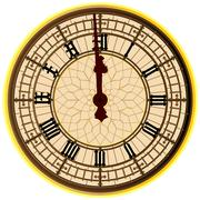 Big ben midnight clock face Stock Illustration