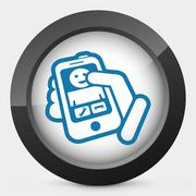 Incoming call phone - stock illustration