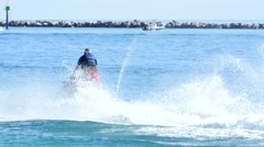 Waverunners in miami 4k Stock Footage