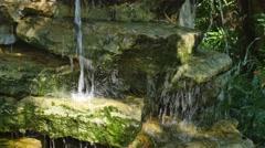 Oriental garden waterfall 4k Stock Footage