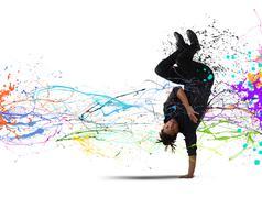 capoeira dance - stock illustration