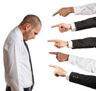 Stock Photo of accused businessman