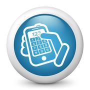 Phone keypad numbers Stock Illustration