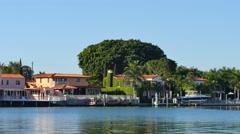 Luxury waterfront homes miami beach 4k Stock Footage