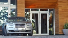 Rolls Royce at the valet 4k Stock Footage