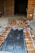 Demolished door Stock Photos