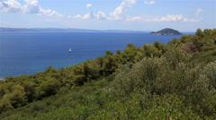 Kelyfos Island in Aegean Sea. - stock footage