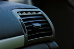 Air conditioner in compact car Stock Photos