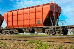 hopper wagon - stock photo