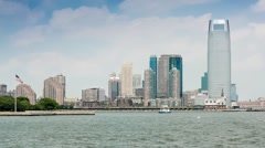 Jersey City from Hudson Stock Footage