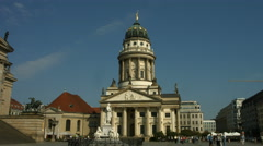 French church Gendarmenmarkt Berlin Stock Footage