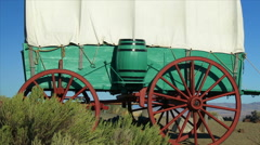 Covered Wagon On The Prairie Stock Footage