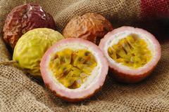 Passionfruit raw Stock Photos