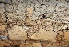 Dry land background Stock Photos